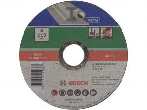Bosch egyenes darabolótárcsa - fémekhez, 115x1.6x22.23mm