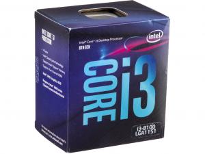 Intel® Core™ i3 Processzor 3,60GHz LGA1151 6MB (i3-8100) box processzor