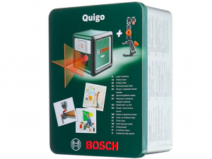 Bosch Quigo Kereszt és vonallézer fém dobozban