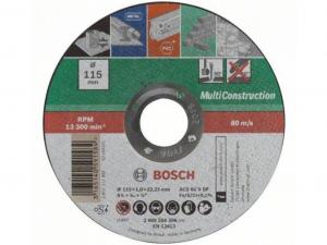 Bosch egyenes Multi Construction darabolótárcsa (fém, beton, kő) - 115x1.0x22.23mm