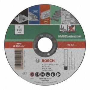 Bosch egyenes Multi Construction darabolótárcsa (fém, beton, kő) - 125x1.0x22.23mm