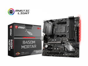 MSI B450M MORTAR alaplap - sAM4, Intel® B450M, mATX