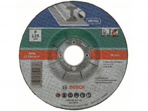 Bosch hajlított darabolótárcsa - fémekhez, 125x2.5x22.23mm