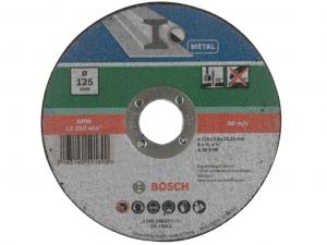 Bosch egyenes darabolótárcsa - fémekhez, 125x2.5x22.23mm
