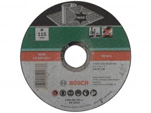 Bosch egyenes darabolótárcsa - Inox, 115x1.6x22.23mm