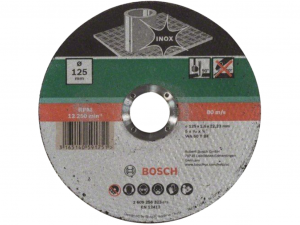 Bosch egyenes darabolótárcsa - Inox, 125x1.6x22.23mm