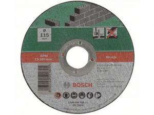 Bosch egyenes darabolótárcsa - kőhöz, 115x3.0x22.23mm