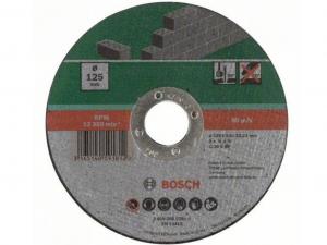 Bosch egyenes darabolótárcsa - kőhöz, 125x3.0x22.23mm