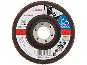 Bosch X571 fíber csiszolótárcsa - fémhez, 115mm, 40 szemcseméret