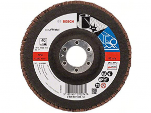 Bosch X571 fíber csiszolótárcsa - fémhez, 125mm, 40 szemcseméret