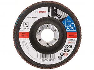 Bosch X571 fíber hajlított csiszolótárcsa - fémhez, 115mm, 60 szemcseméret