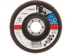 Bosch X571 fíber hajlított csiszolótárcsa - fémhez, 115mm, 80 szemcseméret