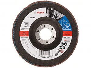 Bosch X571 fíber hajlított csiszolótárcsa - fémhez, 125mm, 80 szemcseméret