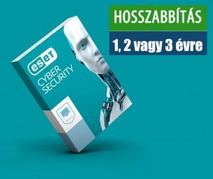 ESET Cyber Security hosszabbítás HUN 1 Felhasználó 1 év online vírusirtó szoftver