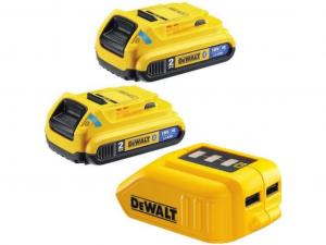 DeWALT DCB283BC-XJ 2db 18V 2Ah XR Li-Ion Bluetooth akkumulátor adapterrel