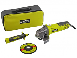 Ryobi RAG950-125S 950W, 125mm Sarokcsiszoló táskában