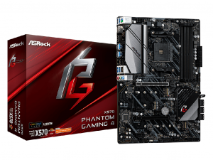 ASRock X570 Phantom Gaming 4 alaplap - sAM4, AMD X570, ATX