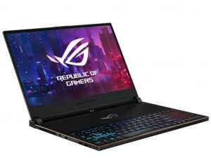 Asus ROG Zephyrus S GX502GW-AZ081T 15,6 FHD 240Hz, Intel® Core™ i7-9750H, 32GB, 1TB SSD, NVIDIA® GeForce® RTX 2070 8GB, Windows® 10, Gladius II gamer egér, háttérvilágítású billentyűzet, Fekete notebook