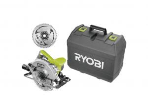 Ryobi 1600 W körfűrész lézerrel, +1 x körfűrészlap, koffer