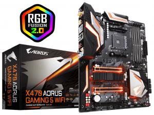 Gigabyte X470 AORUS GAMING 5 WIFI alaplap - AMD X470, ATX