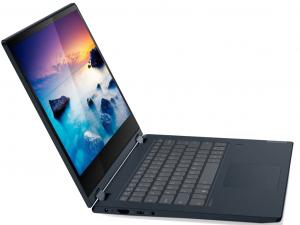 Lenovo IdeaPad C340 81N400BFHV 14 HD Touch, Intel® Pentium® Dual Core™ 5405U, 4GB, 128GB SSD, Intel® UHD Graphics 610, Win10S, kék notebook