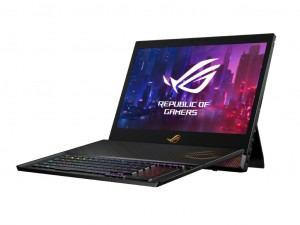 Asus ROG Mothership GZ700GX-EV020T 17,3 FHD 144Hz, Intel® Core™ i7-i9 Processzor-9880HK, 64GB, 1,5TB SSD, NVIDIA® GeForce® RTX 2080 8GB, Windows® 10, Gladius II gamer egér, Fekete notebook