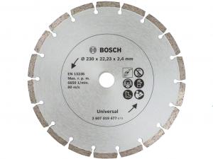 Bosch gyémánt vágótárcsa - építőanyagokhoz, 230x22.23x2.4mm