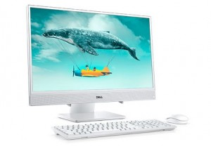 DELL INSPIRON AIO 3480 - 23.8 Col - Full HD - Érintőkijelző - WINDOWS 10 HOME Fehér all-in-one PC