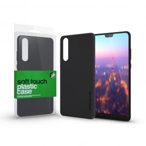Plasztik tok Soft-touch felülettel fekete Huawei Mate 20 Lite készülékhez