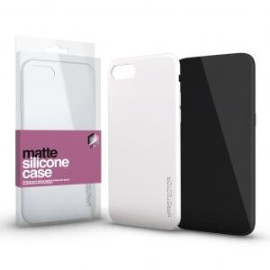 Szilikon matte tok ultra vékony opál fehér Samsung A20 / A30 / A30s / A50 / A50s készülékhez