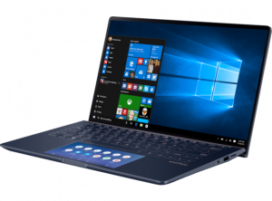 Asus Zenbook 13 UX334FL-A4015T -13.3 Fényes FHD, Intel® Core™ i5 Processzor-8265U, 8GB, 256GB SSD, Nvidia GeForce MX250 2GB, Windows 10, Kék Laptop