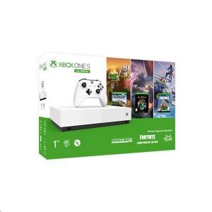 Microsoft Xbox One S All-Digital 1TB fehér + Minecraft + Sea of Thieves + Fortnite extrák