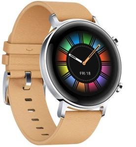 Huawei Watch GT 2 Classic 42mm Bézs bőr Okosóra