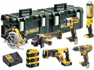 DeWALT DCK623P3-QW 18V XR akkus 6 részes gépszett (DCG405, DCS367, DCS570, DCF887, DCD796, DCL050, 2x DS300, DCB115)