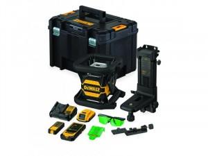 DeWALT DCE080D1GS-QW 18V XR Tool Connect Akkus Bluetooth Önbeálló Zöld Forgólézer