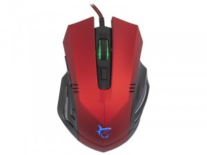 WHITE SHARK GM-1602R HANNIBAL GAMING 3200DPI Piros Egér