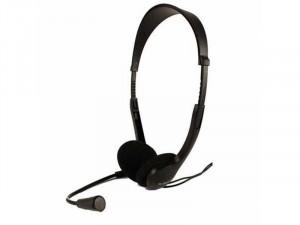 SBOX HS-201 Fekete Mikrofonos Fejhallgató