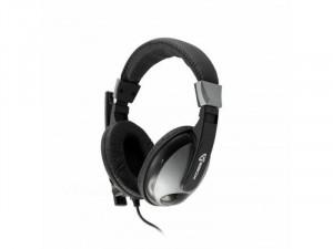 SBOX HS-302 Fekete Mikrofonos Fejhallgató