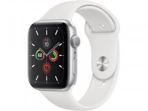 Apple Watch Series 5 GPS Okosóra 44mm Ezüst alumínium ház fehér sportszíjjal