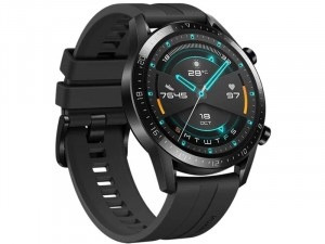 Huawei Watch GT 2 Sport 46mm Okosóra Fekete szilikon szíjjal