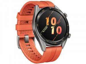 Huawei Watch GT 2 Sport 46mm Okosóra Narancssárga szilikon szíjjal