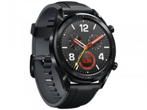 Huawei Watch GT Sport Fekete Okosóra szilikon szíjjal