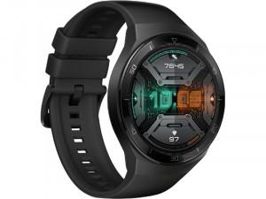 Huawei Watch GT 2e 46mm Fekete Okosóra szilikon szíjjal