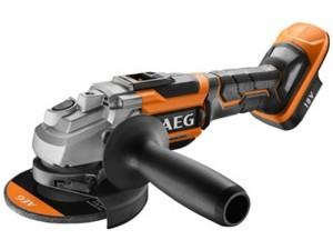 AEG 18 V szénkefe nélküli sarokcsiszoló - 125 mm, akkumulátor és töltő nélkül , AVS pótgfogantyú, védőbukolat