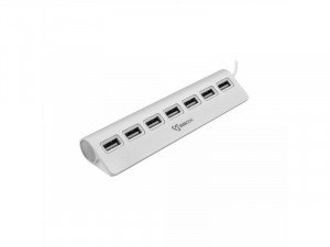 Sbox H-207 Ezüst 7 portos USB Hub