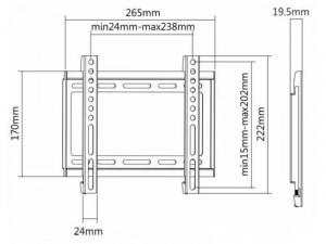SBOX PLB-2222F fali konzol,23-42 fix, 200x200mm, 35kg max
