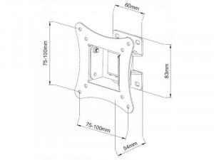 Sbox LCD-900B 13-30 inch Fali konzol, dönthető, forgatható