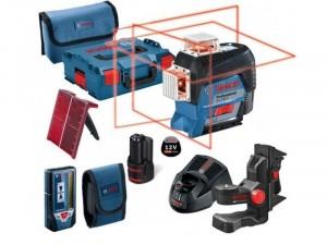 Bosch GLL 3-80 C Vonallézer + L-BOXX + akku + töltő