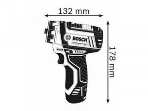 Bosch GSR 12V-15 FC Akkus fúrócsavarozó L-BOXX tárolóban 2 x 2,0 Ah