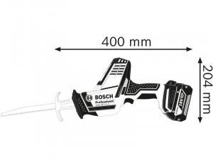 Bosch GSA 18 V-LI C Akkus szablyafűrész L-BOXX tárolóban - akku nélkül
